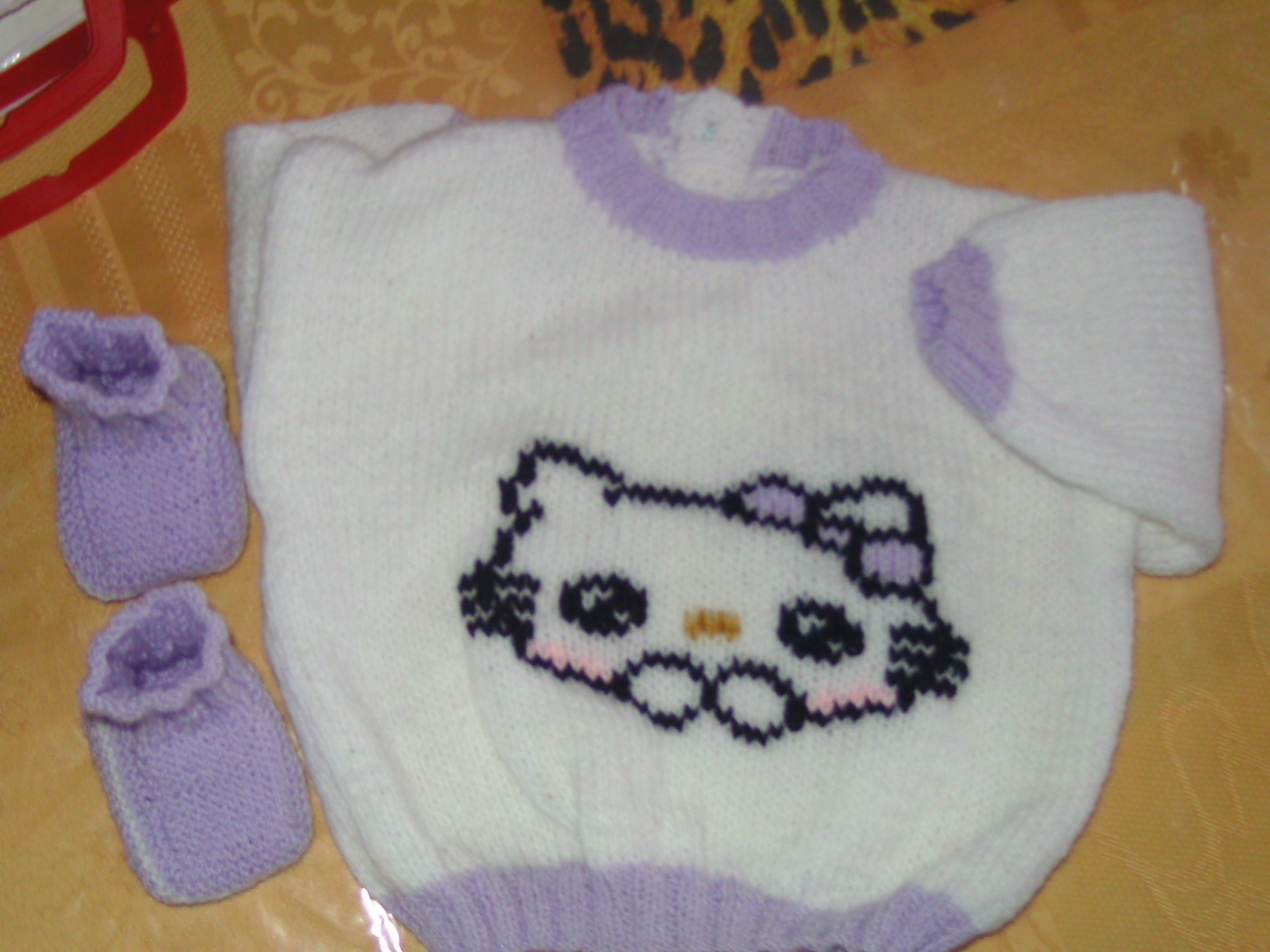 tricoter un pull hello kitty